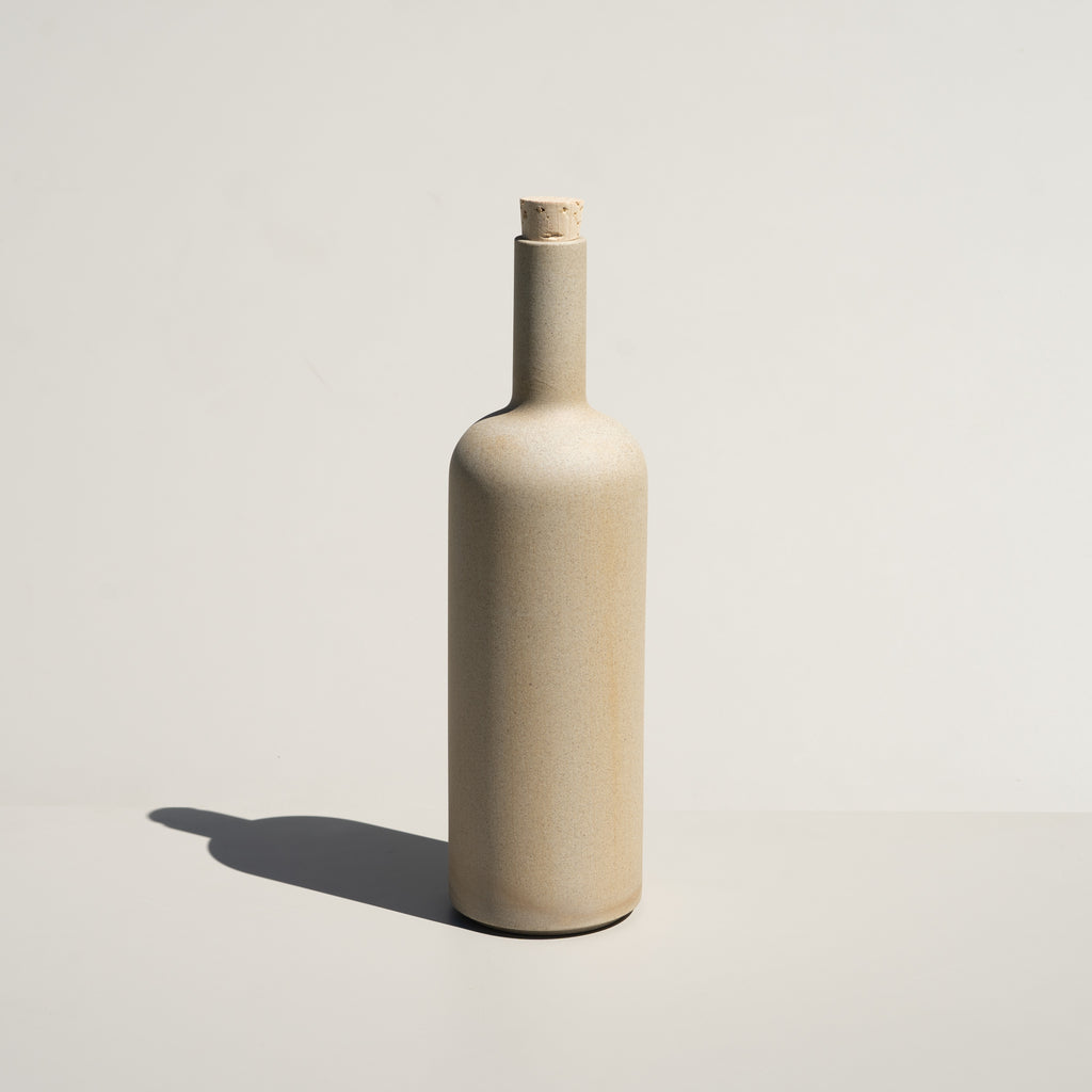 The Hasami Porcelain Bottle in a natural, textured finish.