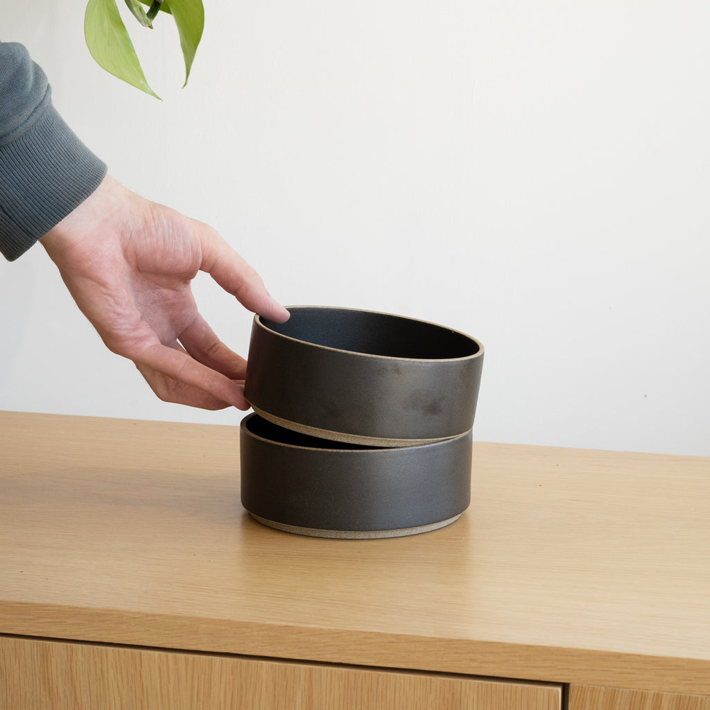 "The 5.5/8"" Bowl from Hasami Porcelain has a stackable design."