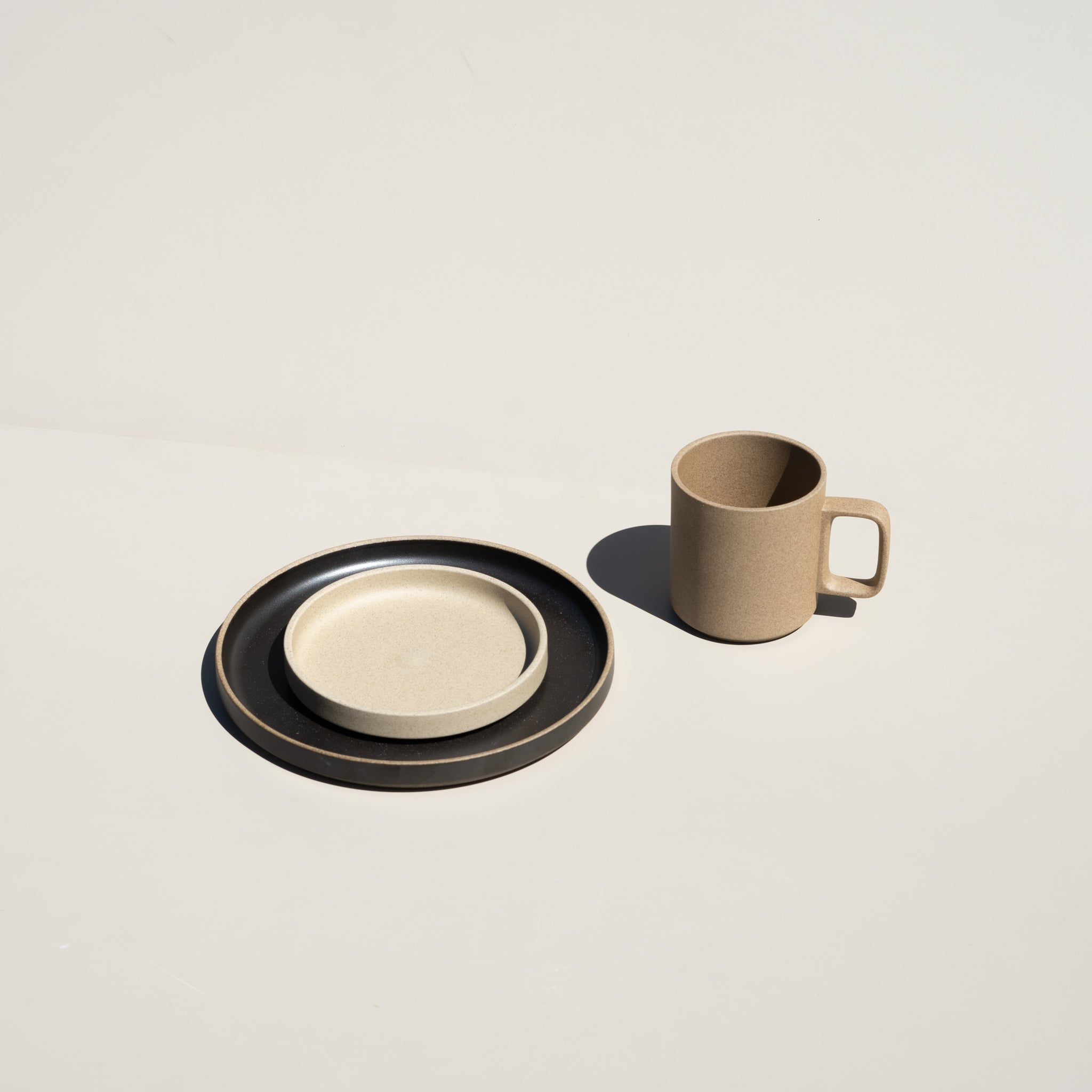 "Hasami Porcelain ceramic wares made in Japan, featuring the 5.5/8"" plate in natural finish."