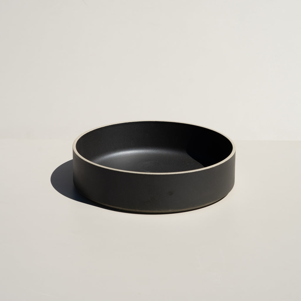"Hasami Porcelain 8.5/8"" Bowl in black finish."