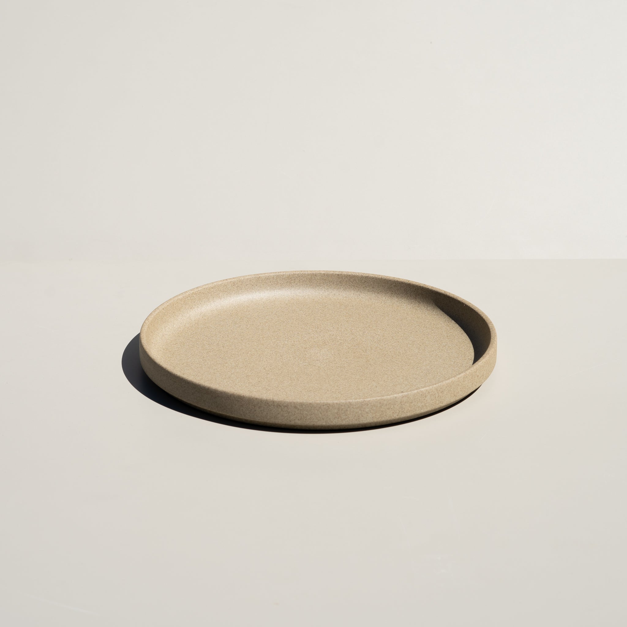 "Hasami Porcelain 8.5/8"" plate in natural finish."