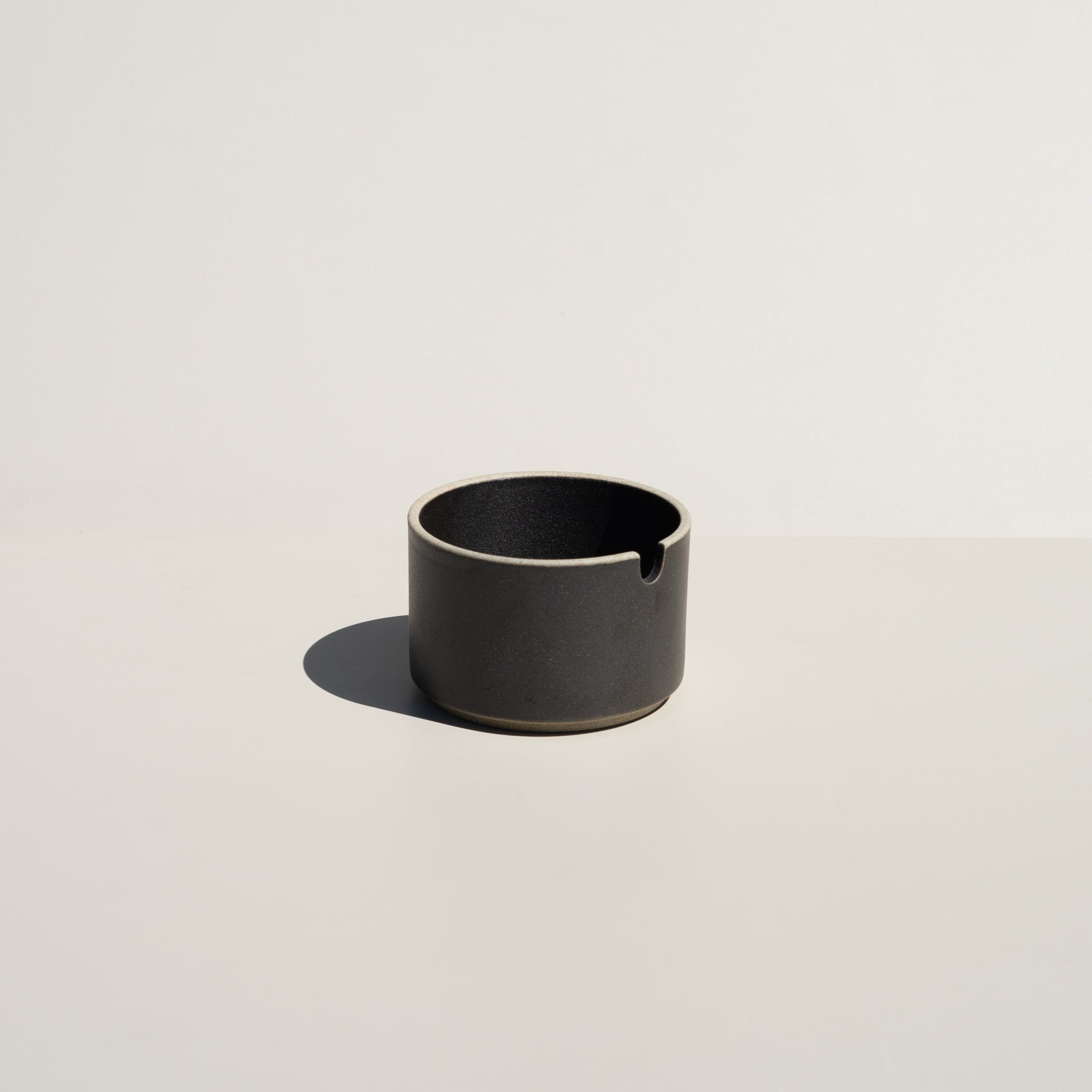 Hasami Porcelain Sugar Pot in satin black finish.