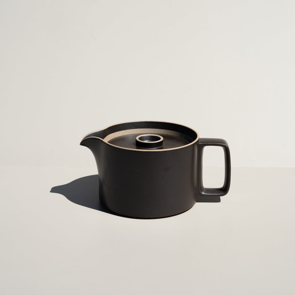 Hasami Porcelain Teapot in satin black finish.