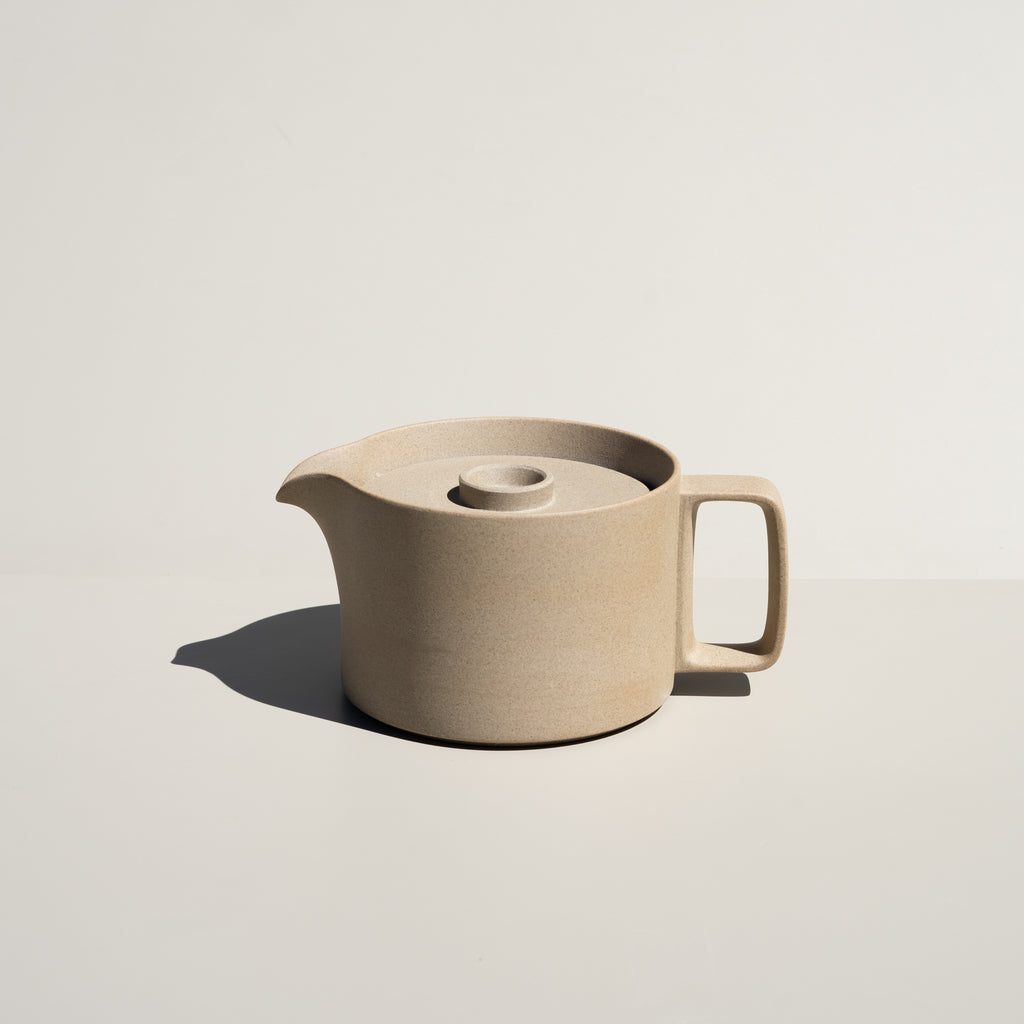 Hasami Porcelain Teapot in natural finish.