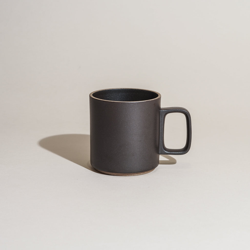Hasami Porcelain Mug 13oz in satin black finish.