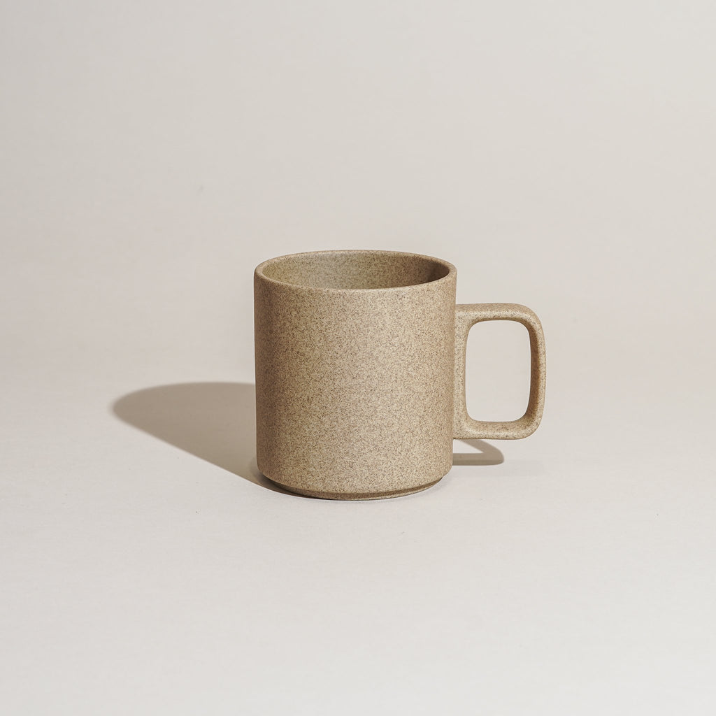 Hasami Porcelain Mug 13oz in natural finish.
