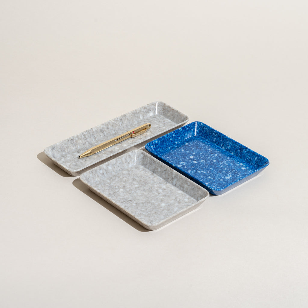 Marbled Desk Tray (Blue)
