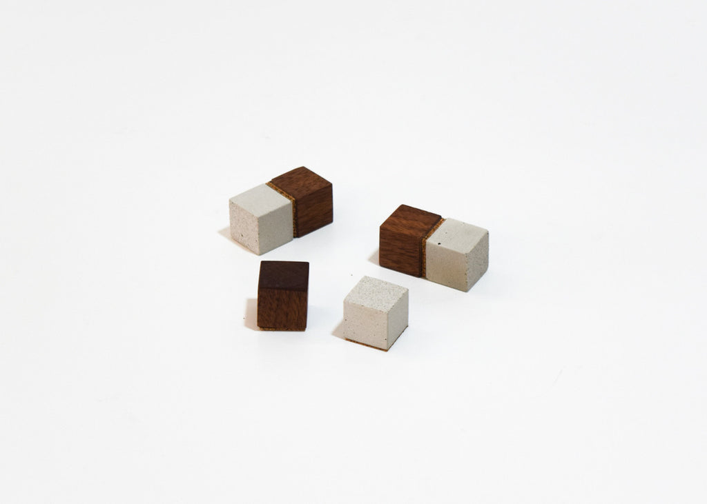 Block Magnets from Human Crafted in a set of 6.