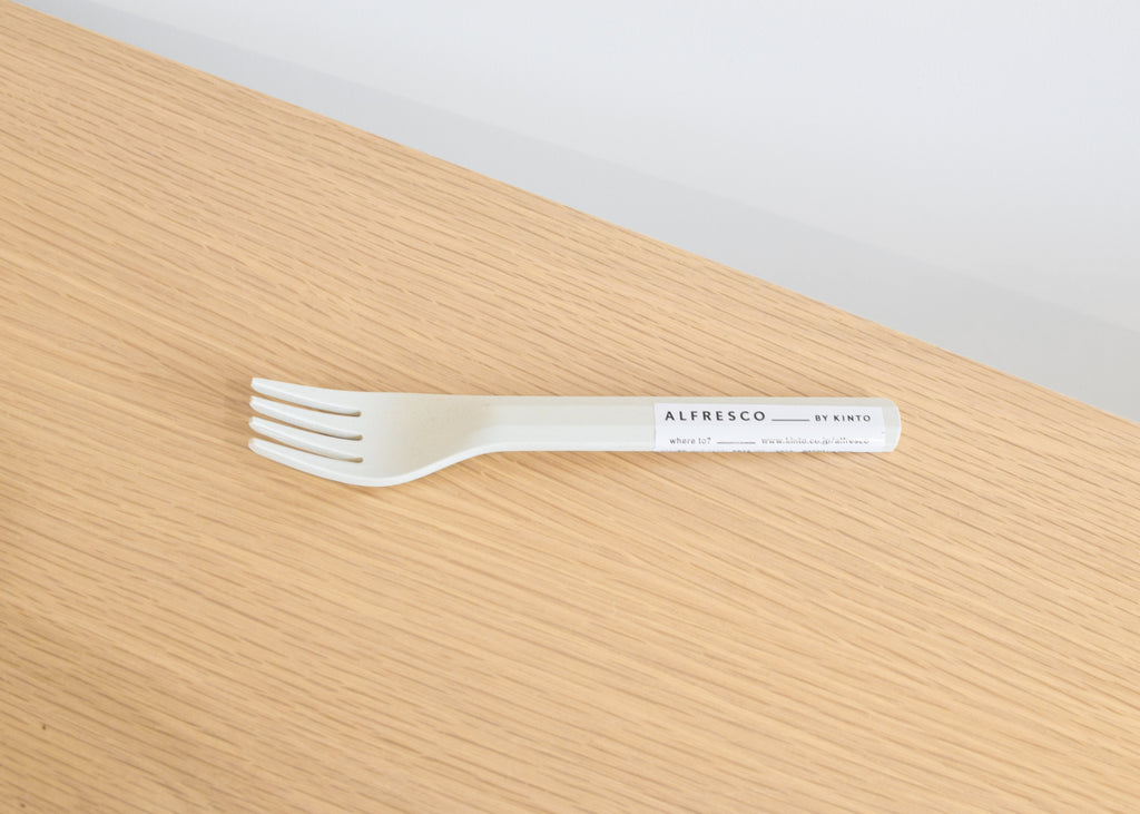 The Kinto Alfresco Fork in beige from Commonplace.