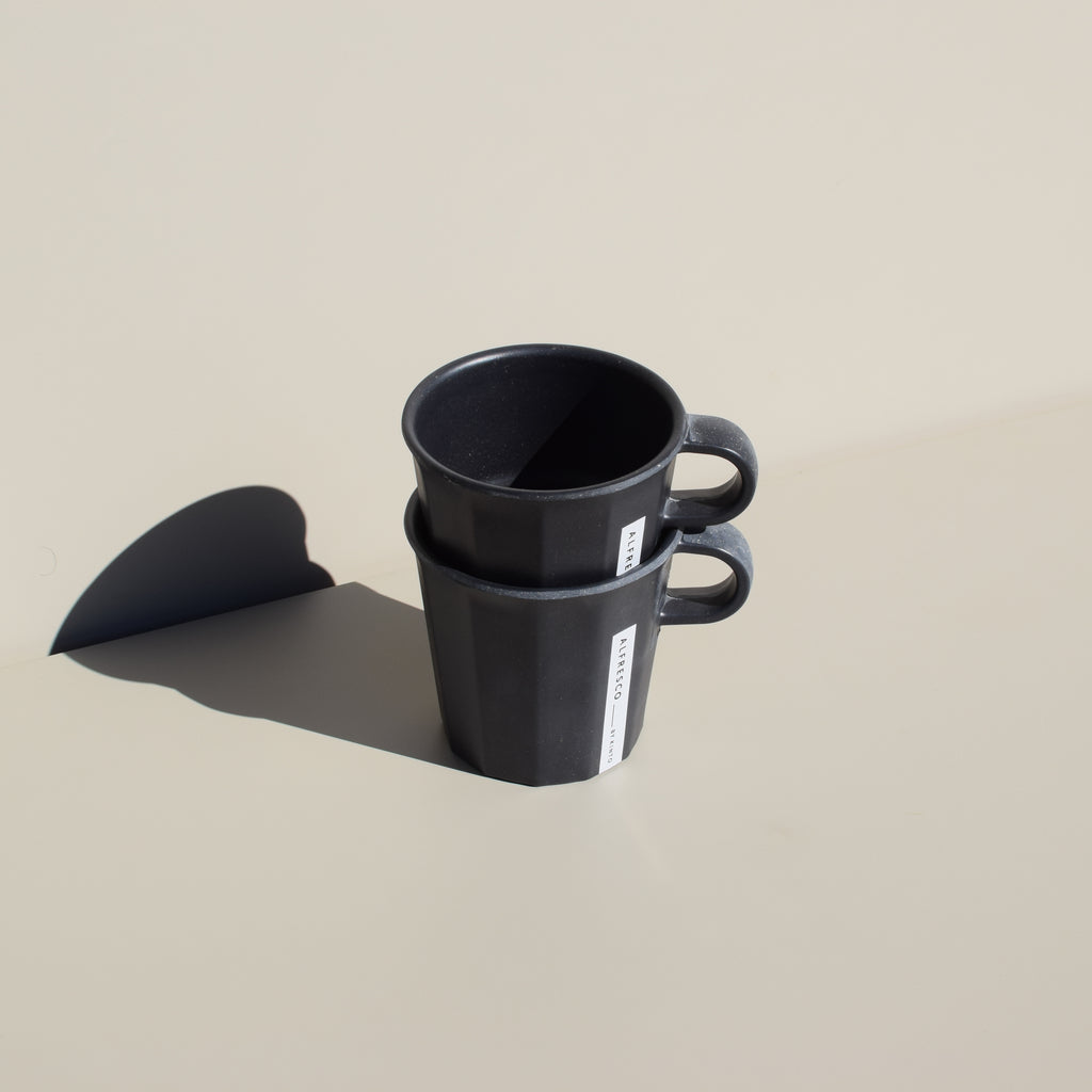 Alfresco Mug (Black - Set of 2)