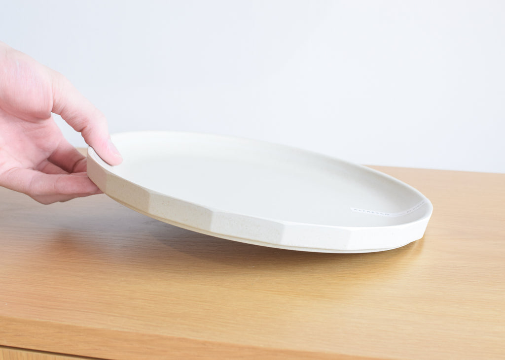 The Kinto Alfresco Large Plate in beige from Commonplace design shop.