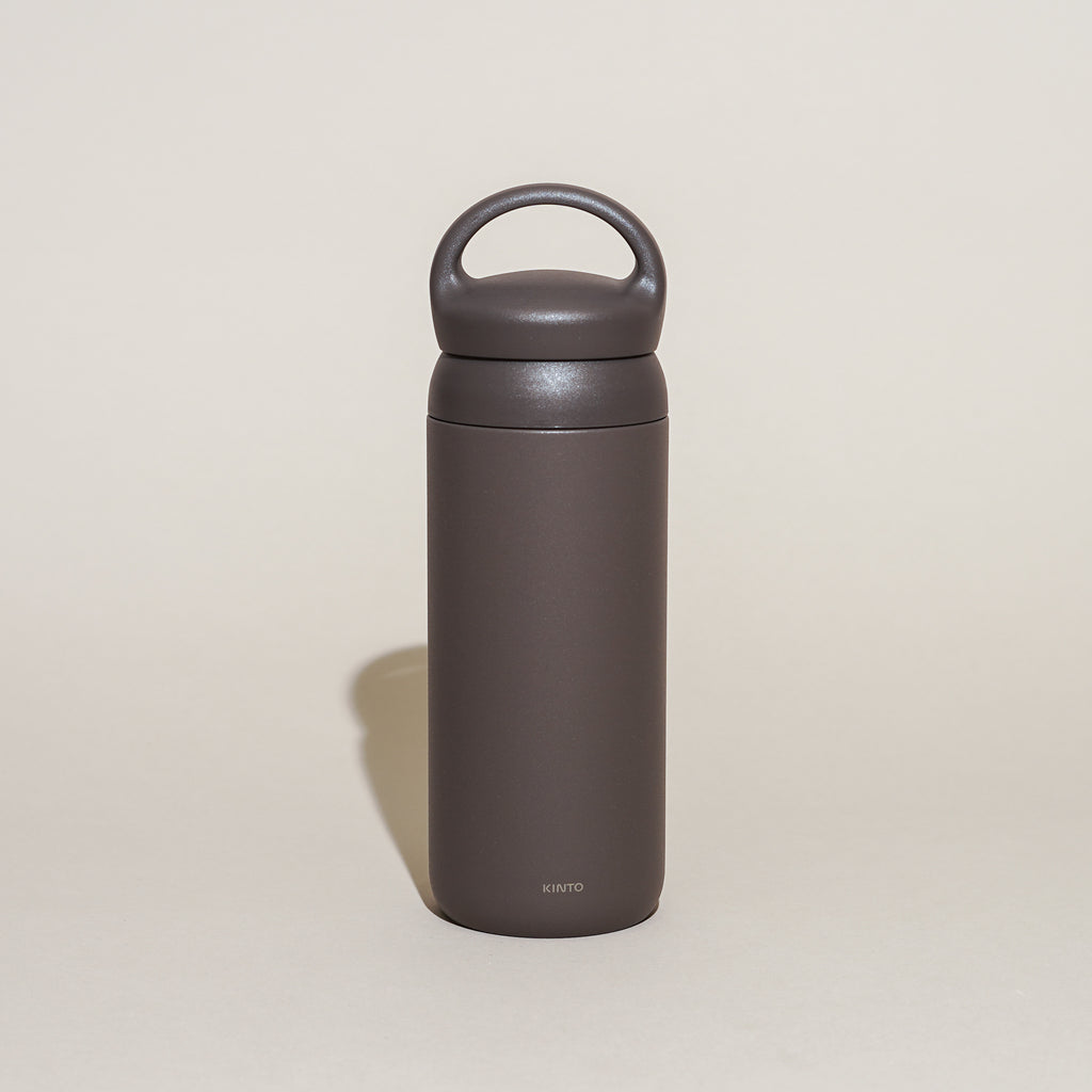 The Day Off Tumbler from Kinto in dark grey.