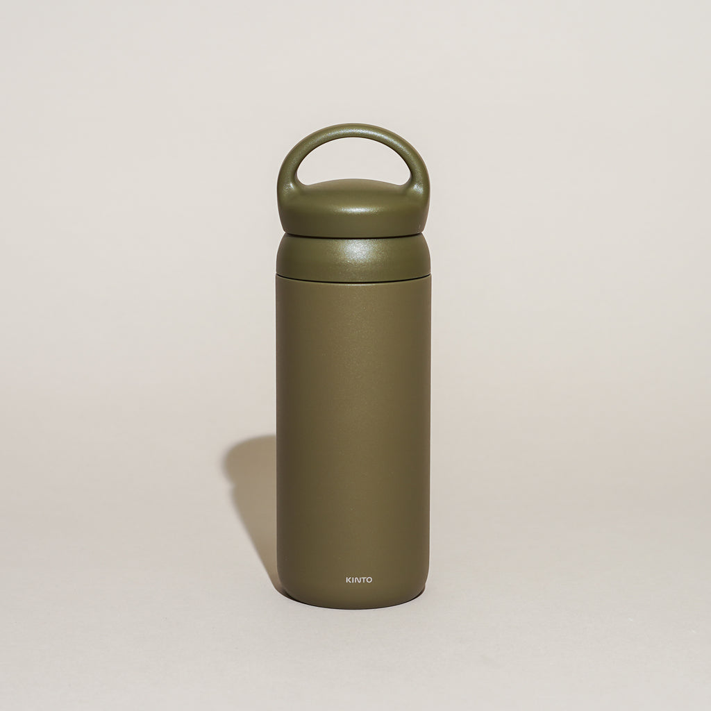 The Day Off Tumbler from Kinto in khaki.