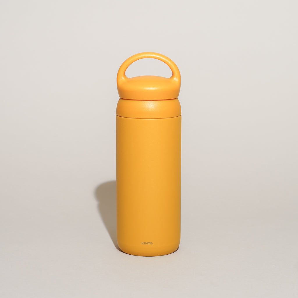 The Day Off Tumbler from Kinto in mustard.
