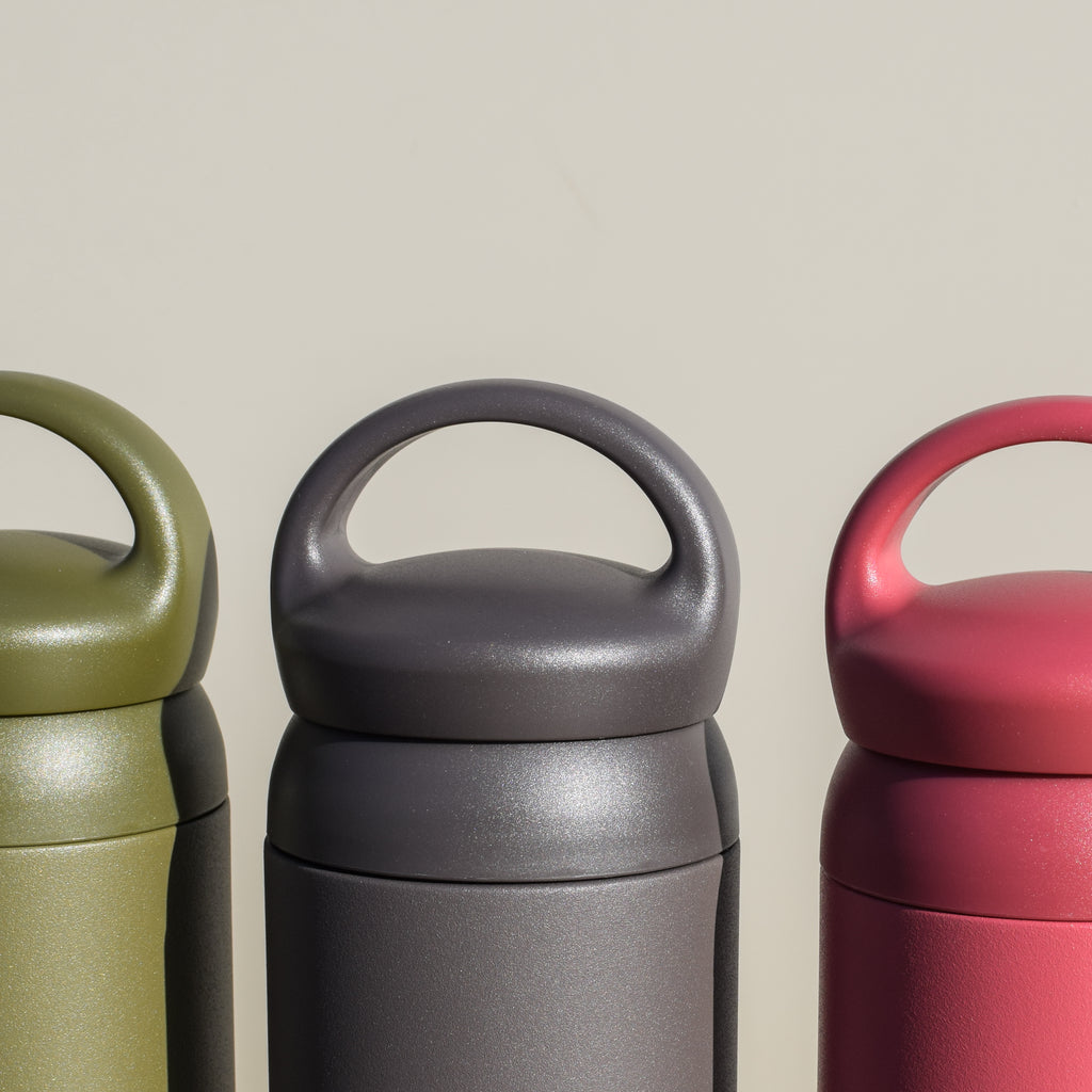 The Day Off Tumbler from Kinto has a comfortable handle for long strolls with your beverage.