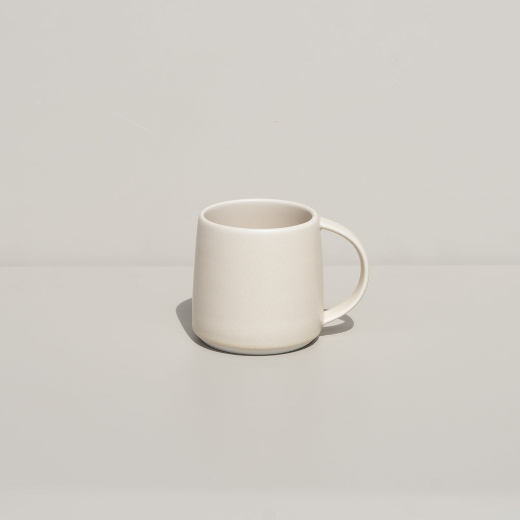 The Ripple Mug from Kinto in soft beige.