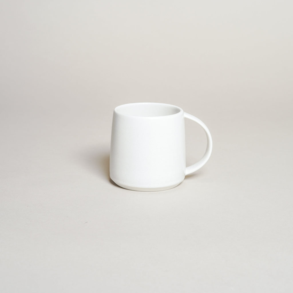 The Kinto Ripple Mug in white.