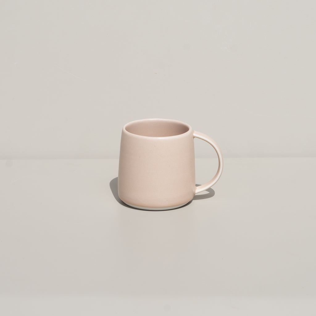 The Ripple Mug from Kinto in soft pink.