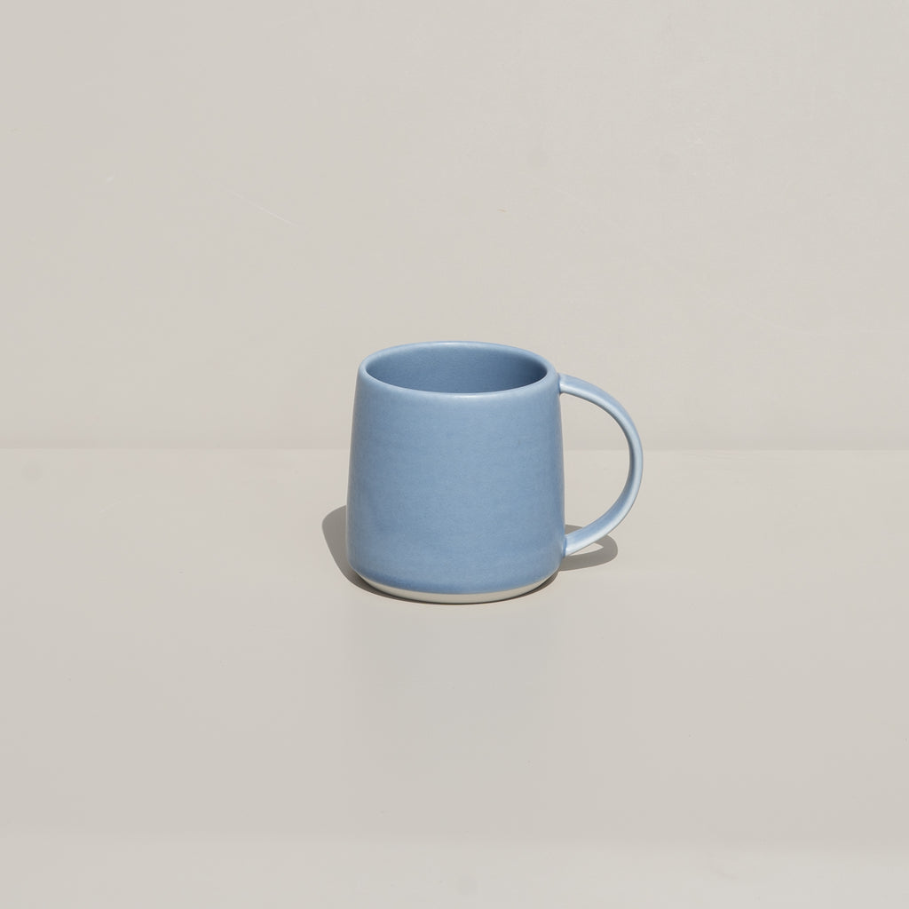 The Ripple Mug from Kinto in soft blue.