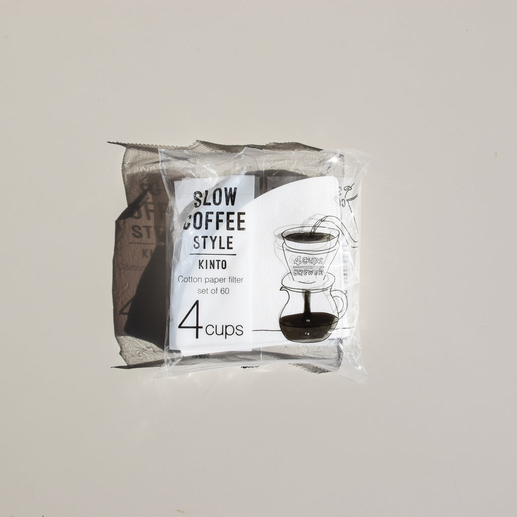 Cotton Paper Coffee Filters - 60 Pack