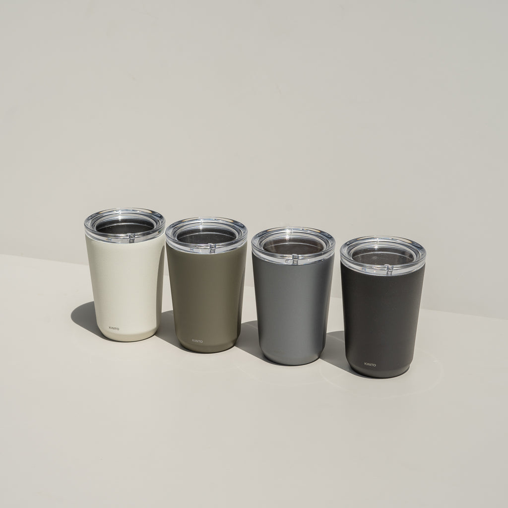 Kinto's To Go Tumbler is a sleek coffee or tea tumbler.