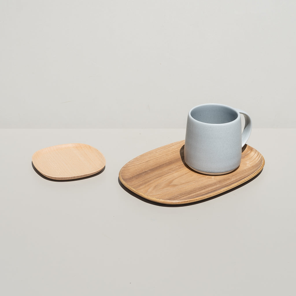 The Kinto UNITEA Nonslip Tray, perfectly sized for a mug and snacks.