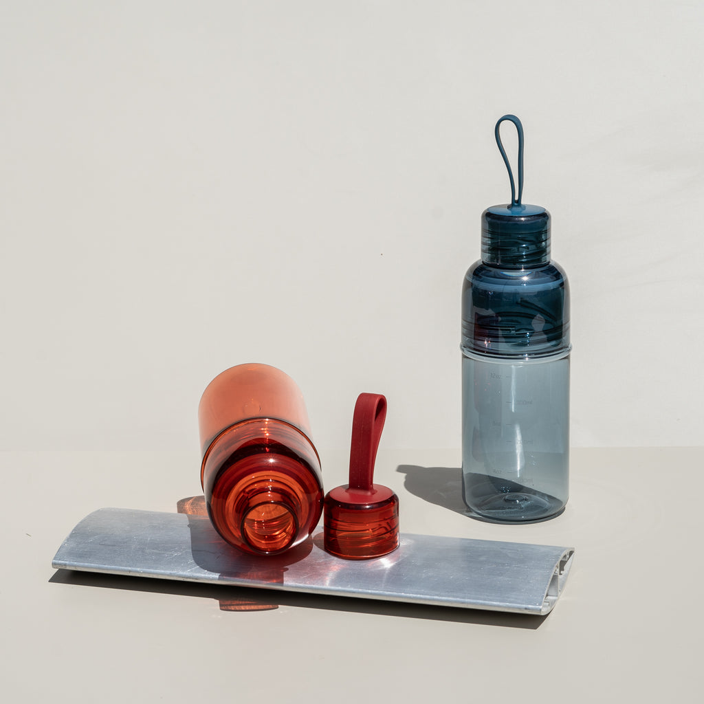 The Workout Bottle from Japanese tableware company Kinto features a comfy silicone handle.