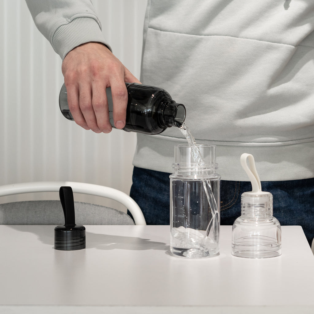 A two part cap makes Kinto's Workout Bottle an easy water bottle to clean.