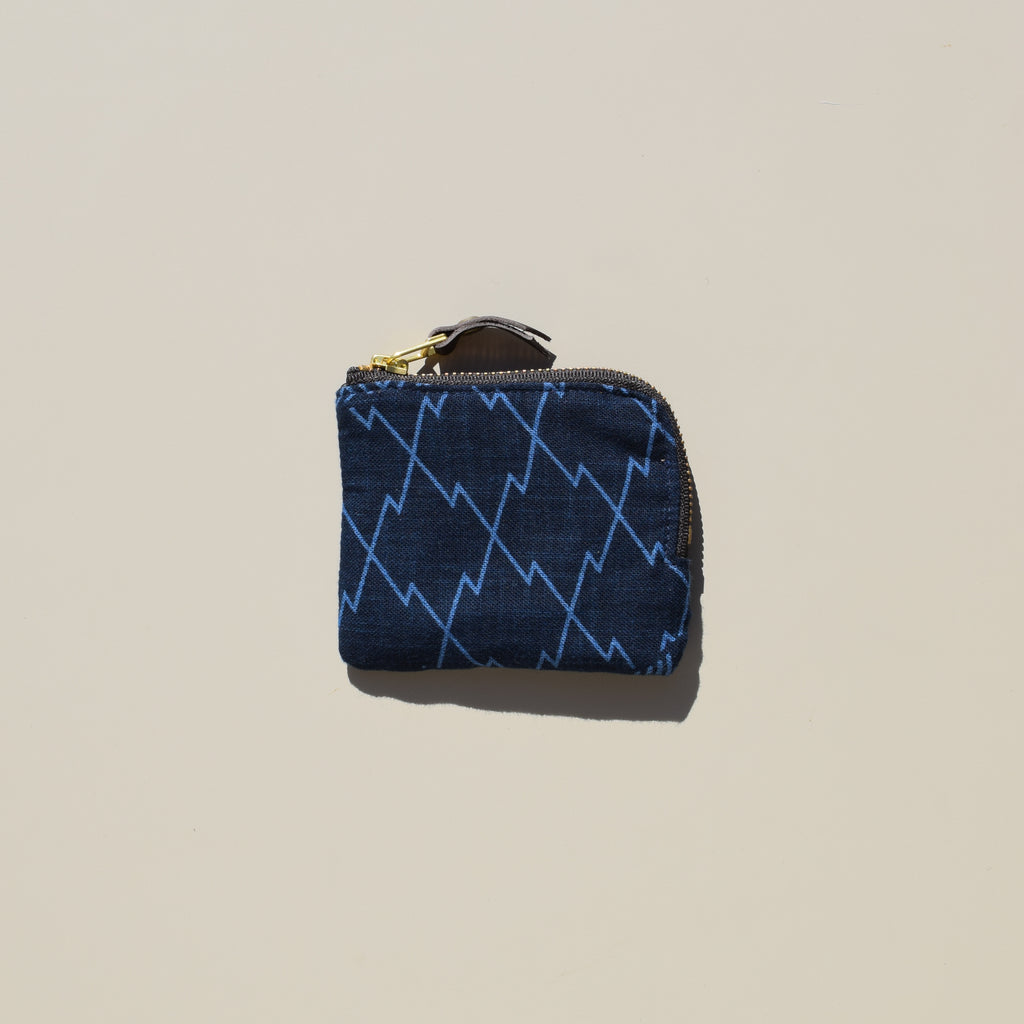 Zipper Wallet (Indigo Large Multi Pattern)