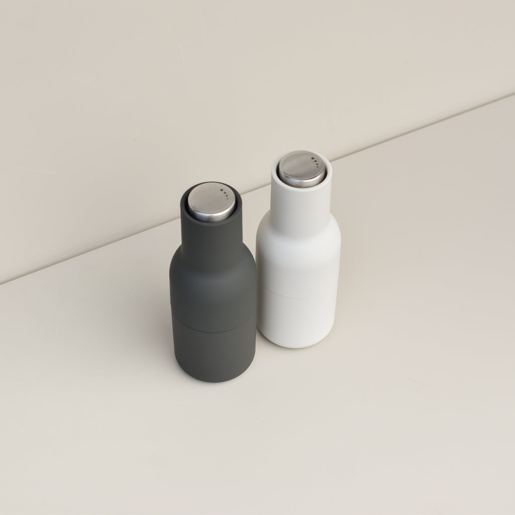 Bottle Grinders (Carbon/Ash - Steel Lid)