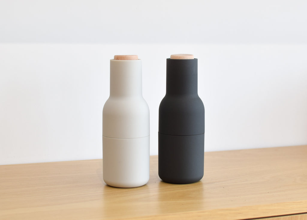 Bottle Grinders from Danish design brand Menu, designed by Norm Architects.
