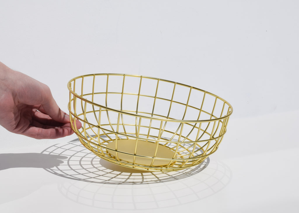 Menu Wire Bowl in brass at Commonplace design shop.