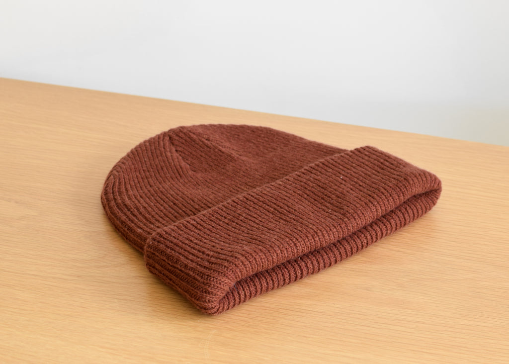 Merino Wool Hat (Rust)