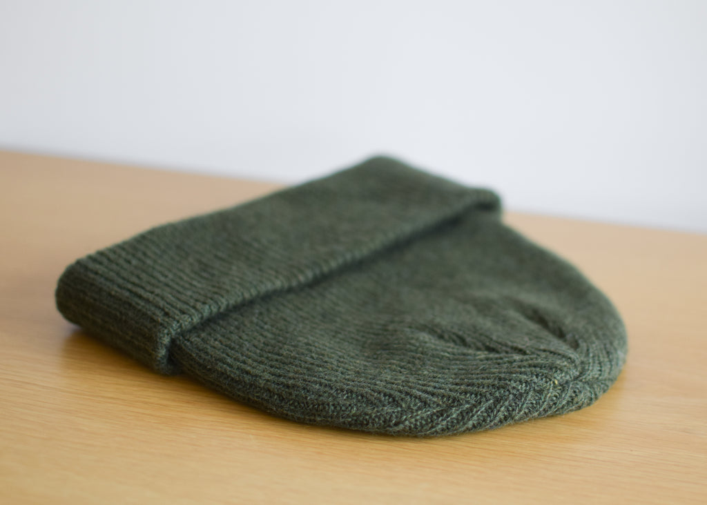 Merino Wool Hat (Forest Green)