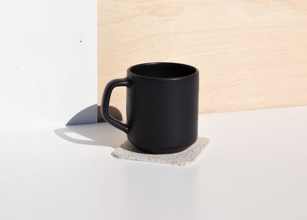 The Most Modest vibration dampening Coasters in white.