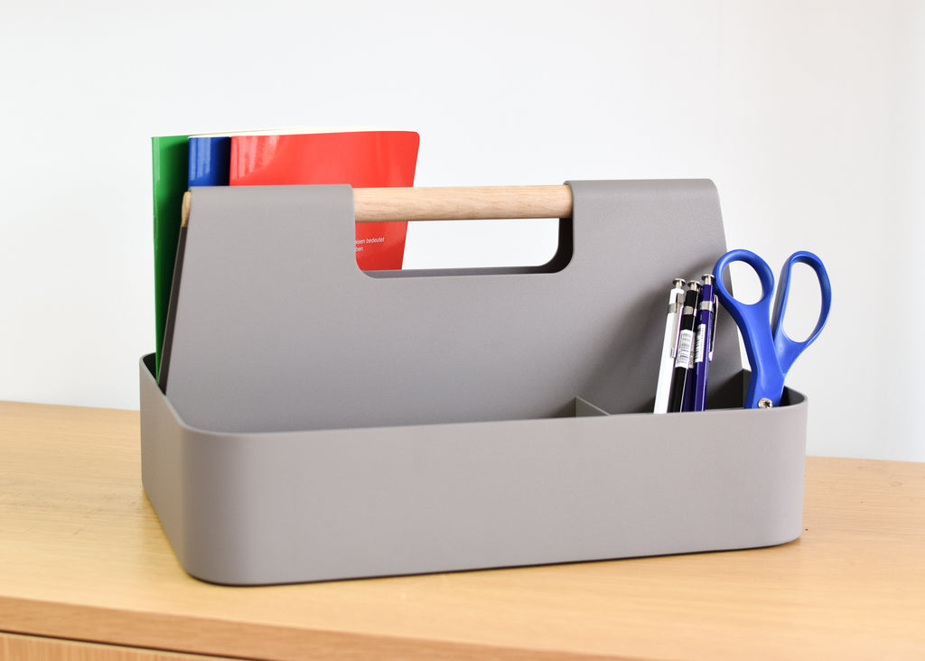The Elin Desk Caddy from Most Modest is the perfect office accessory.