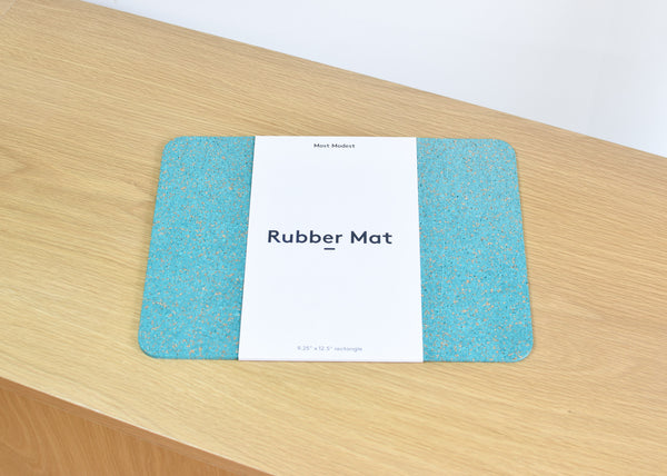 Rubber Mat Rectangle (Teal)