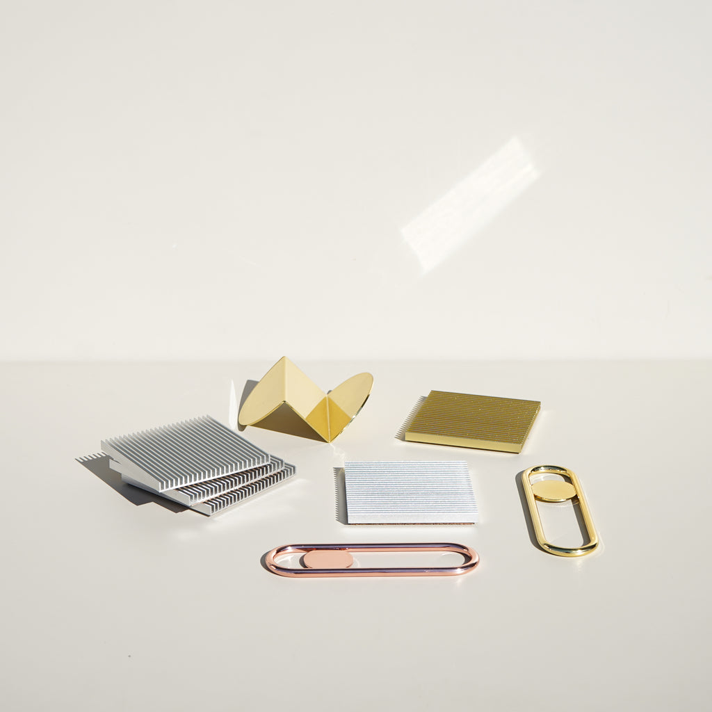 Metal accessories by Brooklyn design studio Souda.