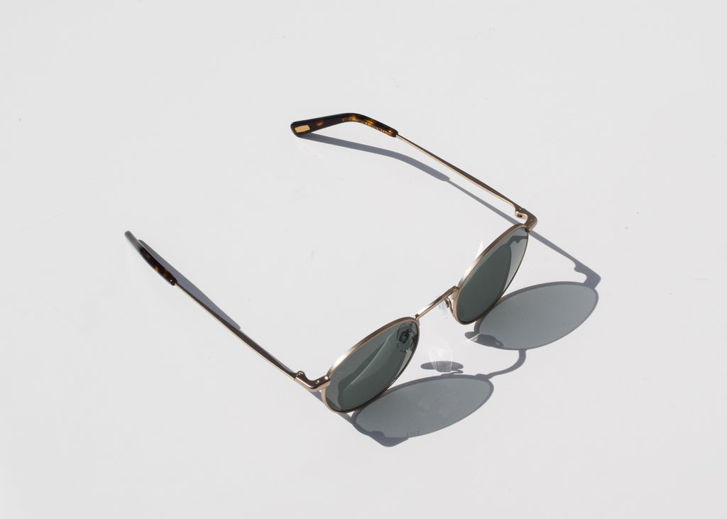 Benson Sunglasses (Japanese Gold & Brindle Tortoise / Polarized)