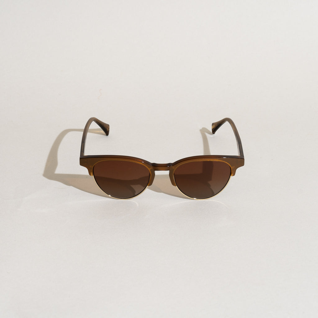 Getz Sunglasses (Metallic Brass)