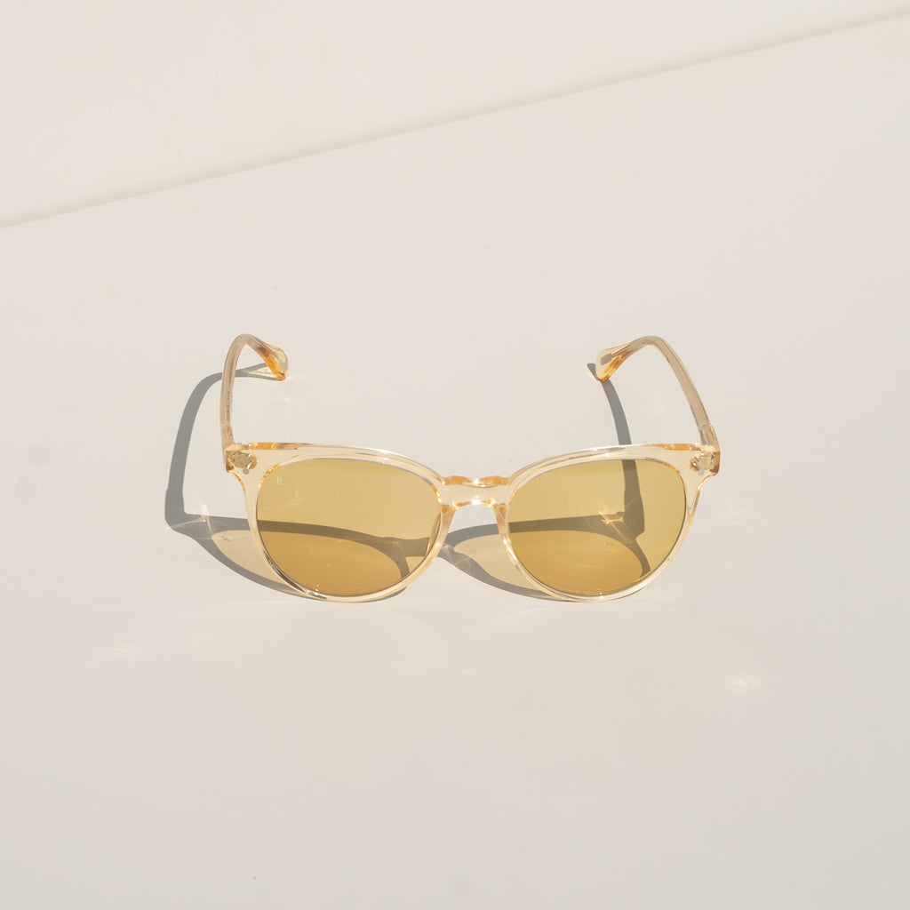 Norie Sunglasses (Champagne Crystal/Yellow)