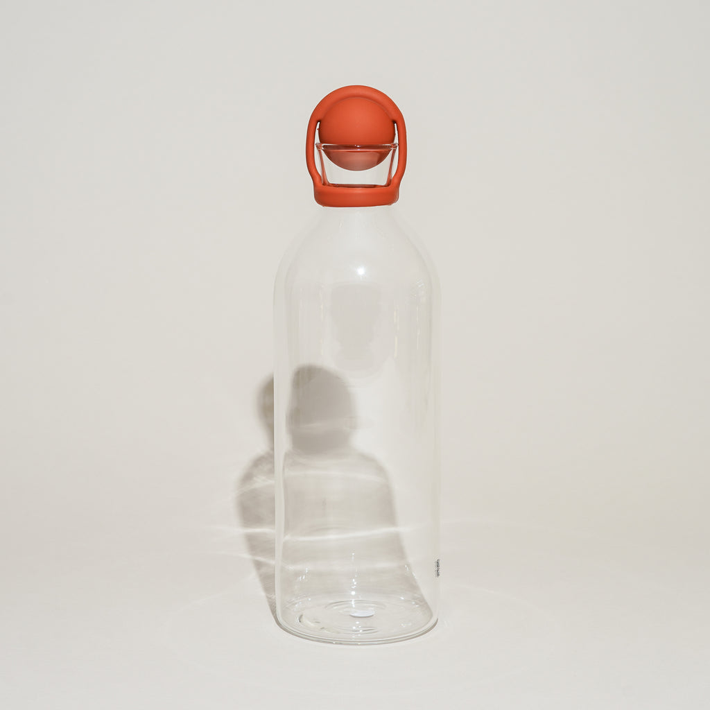 The Cool-It Water Carafe in terracotta from Rig-Tig by Stelton.