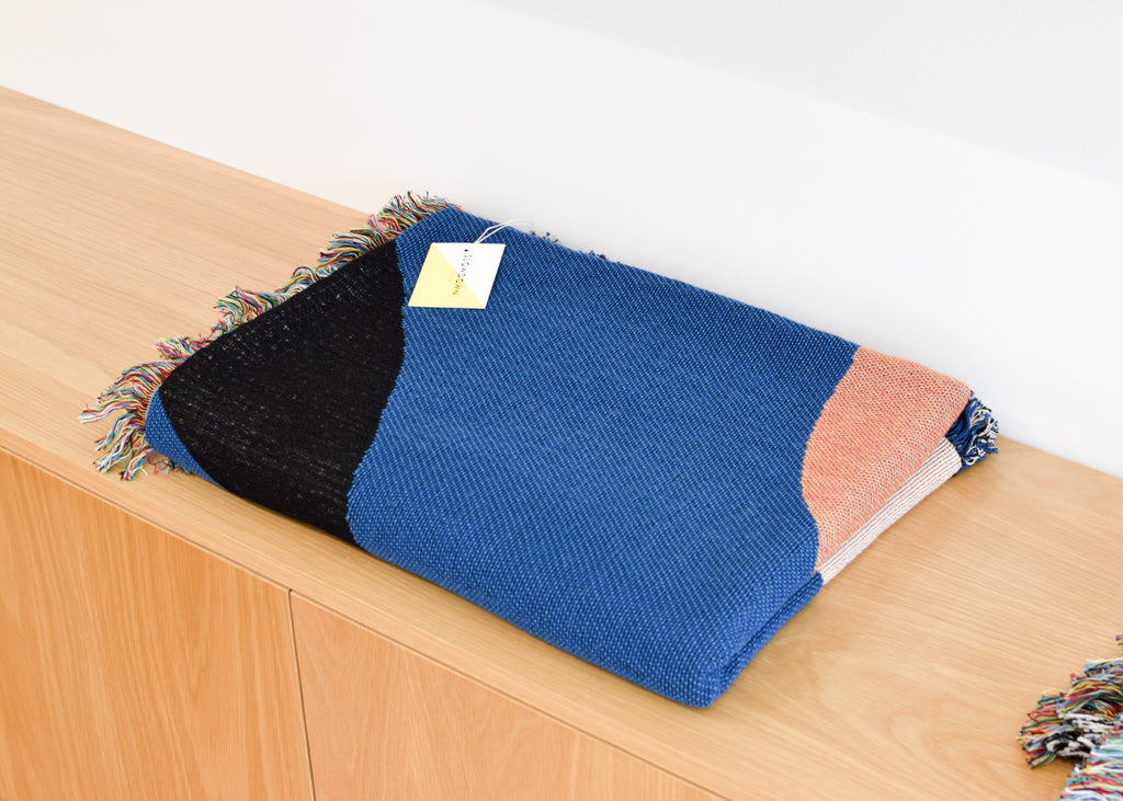 The Slowdown Studio Clifton Throw from Commonplace designed by Jonathan Nicalaus and made in North Carolina,