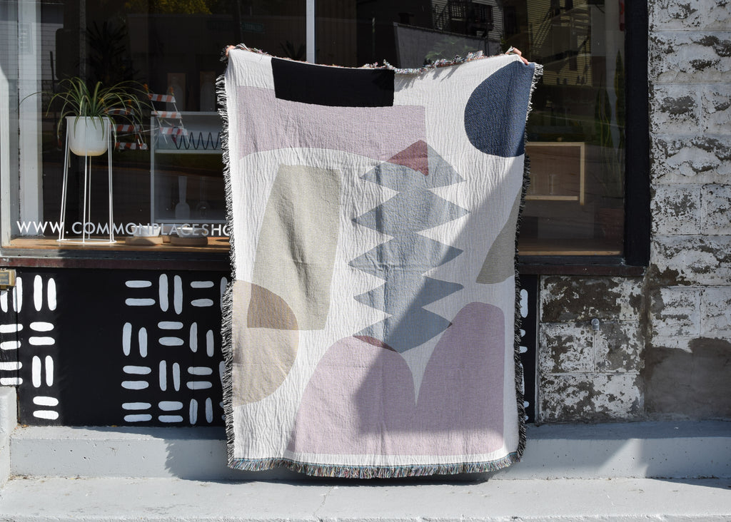 The Holloway Throw from Slowdown Studio at Commonplace design shop in Milwaukee, Wisconsin.
