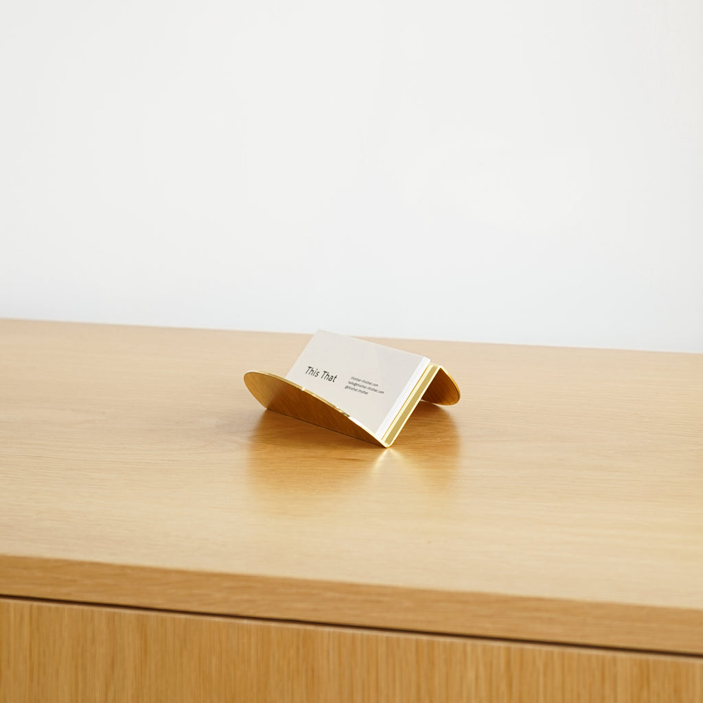 The Wave Business Card holder by Souda at Commonplace design shop in Milwaukee, WI.