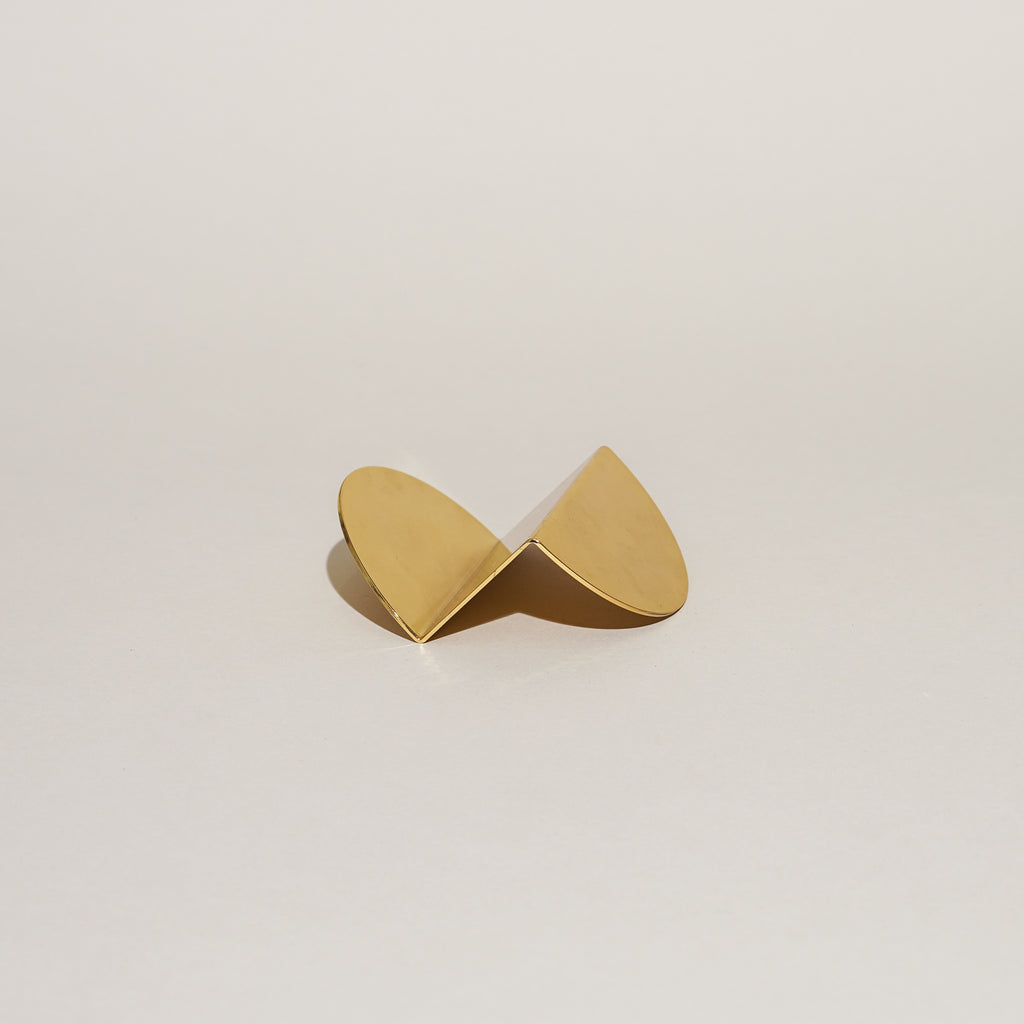 Wave Business Card Holder (Brass)