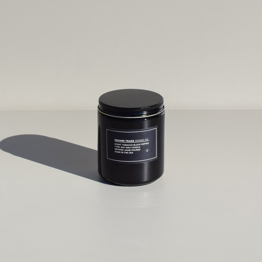 Soy Candle (Tobacco & Black Pepper - 8oz)