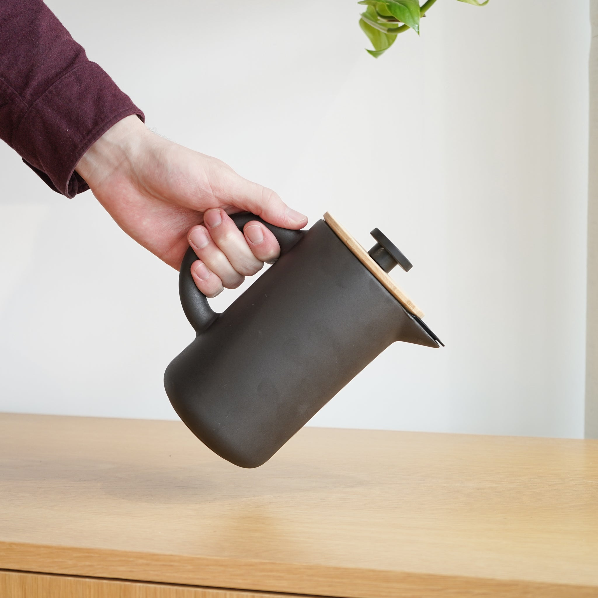 The Theo Coffee Maker is a coffee maker designed by Francis Cayouette for Stelton.