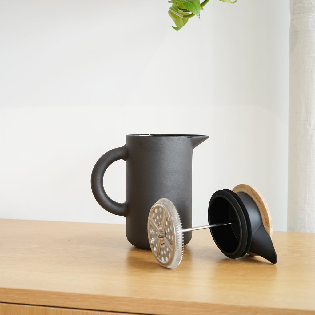 The Theo French Press from Danish design brand Stelton.