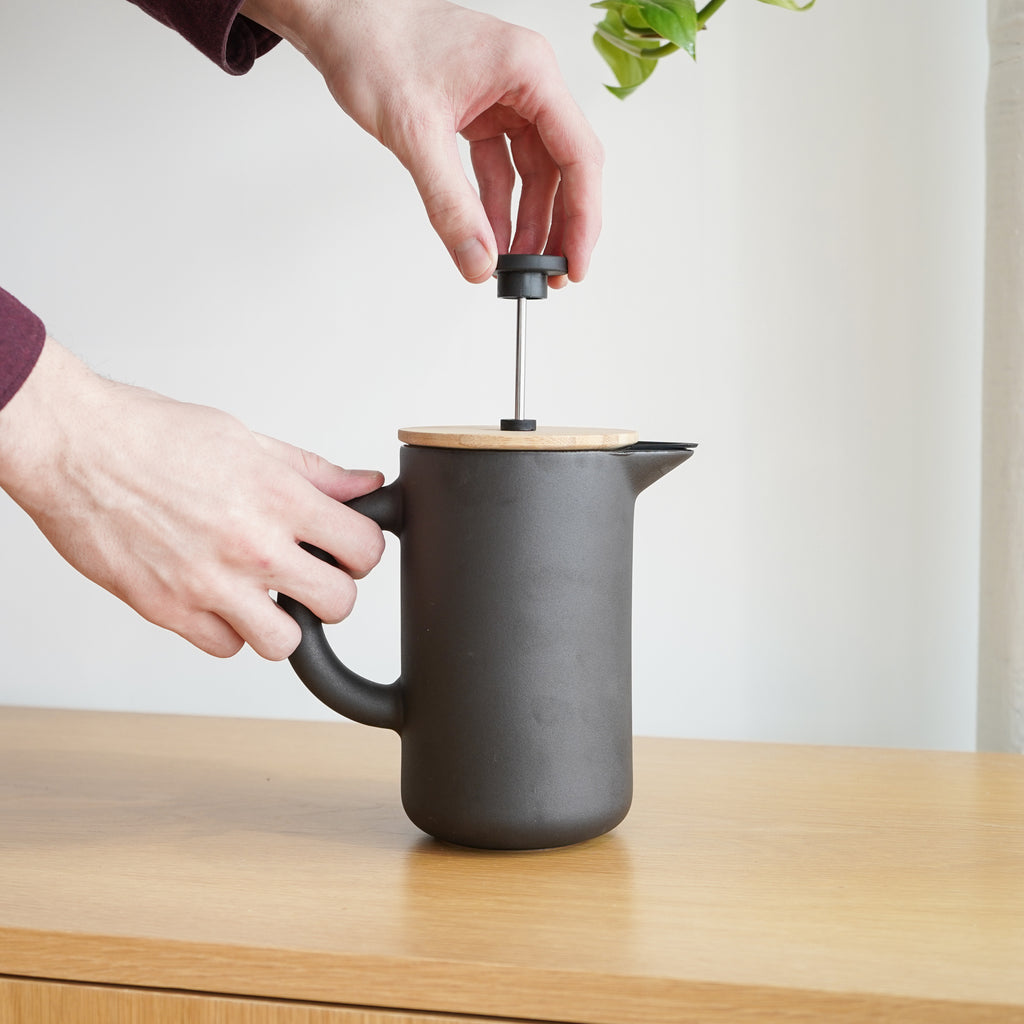 From Stelton, the Theo French Press available at Commonplace design shop.